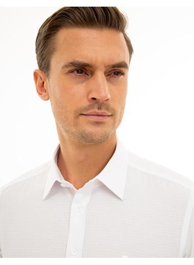 Pierre Cardin Erkek   Gömlek G021GL004.000.1214444.VR013 Beyaz